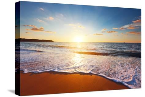 Sunset and Sea-Ozerov Alexander-Stretched Canvas Print