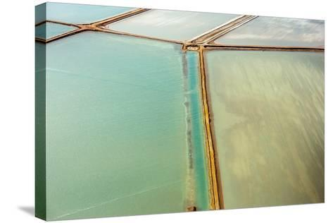 Saline Aerial View in Shark Bay Monkey Mia Australia-Andrea Izzotti-Stretched Canvas Print