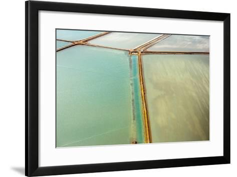 Saline Aerial View in Shark Bay Monkey Mia Australia-Andrea Izzotti-Framed Art Print