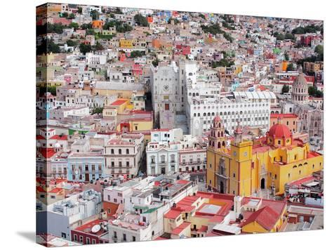 16Th Century Colonial Buildings in the Valley of Guanajuato in Central Mexico, World Heritage Site- Takamex-Stretched Canvas Print