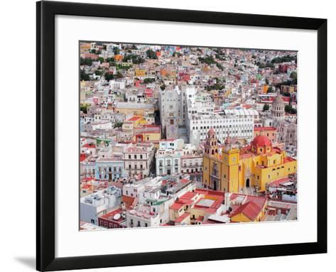 16Th Century Colonial Buildings in the Valley of Guanajuato in Central Mexico, World Heritage Site- Takamex-Framed Art Print