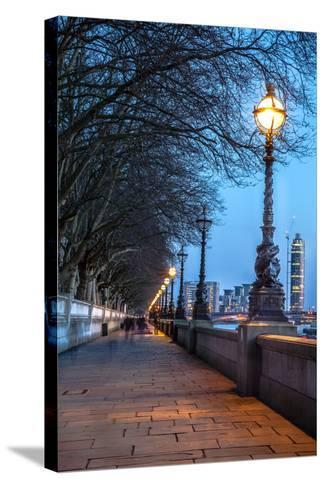 Walk along the Thames in London-arturasker-Stretched Canvas Print