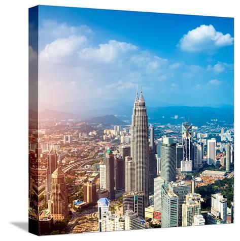Kuala Lumpur Skyline, Malaysia.-r nagy-Stretched Canvas Print