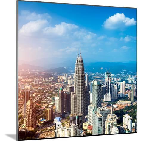 Kuala Lumpur Skyline, Malaysia.-r nagy-Mounted Photographic Print