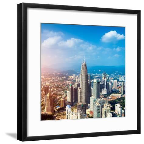 Kuala Lumpur Skyline, Malaysia.-r nagy-Framed Art Print