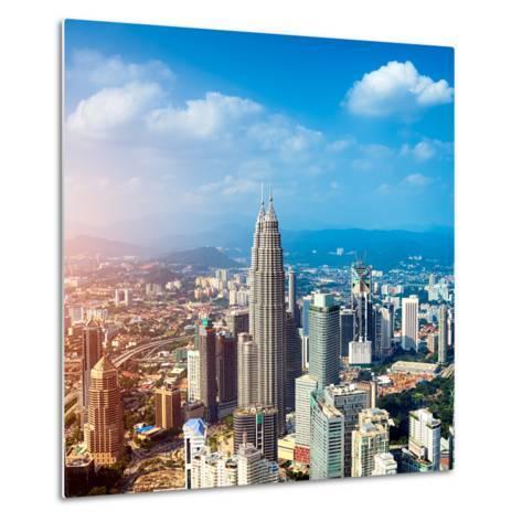 Kuala Lumpur Skyline, Malaysia.-r nagy-Metal Print