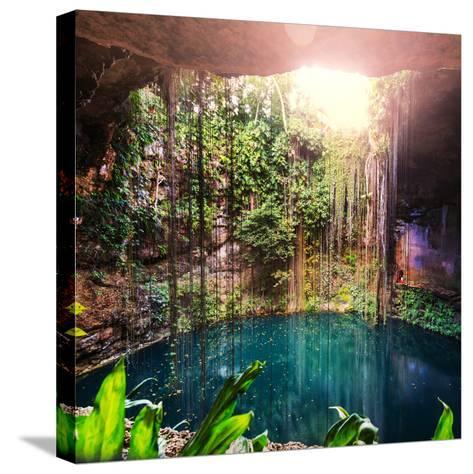 Ik-Kil Cenote, Mexico-Galyna Andrushko-Stretched Canvas Print