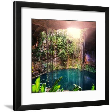 Ik-Kil Cenote, Mexico-Galyna Andrushko-Framed Art Print