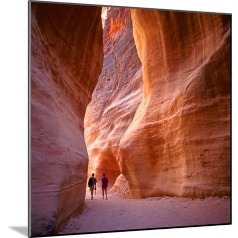 The Siq, the Narrow Slot-Canyon that Serves as the Entrance Passage to the Hidden City of Petra, Jo-robert paul van beets-Mounted Photographic Print