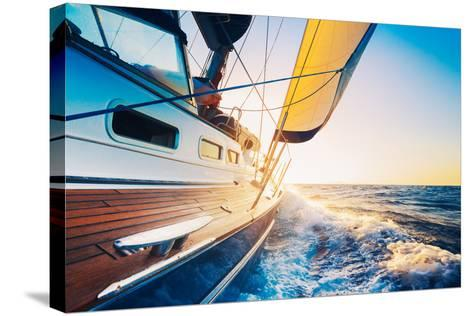 Sailing into the Sunset-EpicStockMedia-Stretched Canvas Print