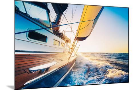 Sailing into the Sunset-EpicStockMedia-Mounted Photographic Print