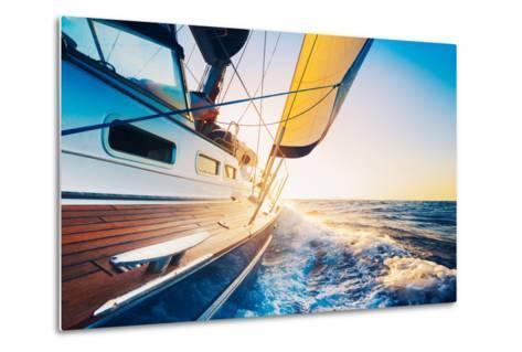 Sailing into the Sunset-EpicStockMedia-Metal Print