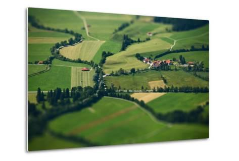 Small Bavarian Village in a Fields, Germany. Pseudo Tilt Shift Effect-Dudarev Mikhail-Metal Print