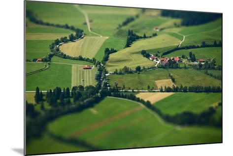 Small Bavarian Village in a Fields, Germany. Pseudo Tilt Shift Effect-Dudarev Mikhail-Mounted Photographic Print