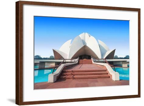 The Lotus Temple, Located in New Delhi, India, is a Bahai House of Worship-saiko3p-Framed Art Print