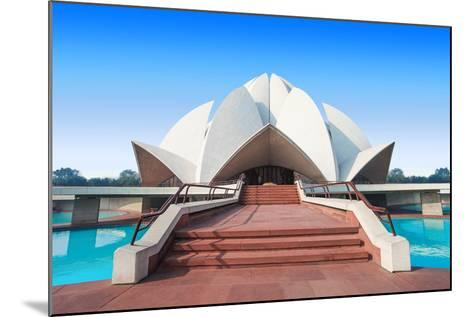 The Lotus Temple, Located in New Delhi, India, is a Bahai House of Worship-saiko3p-Mounted Photographic Print