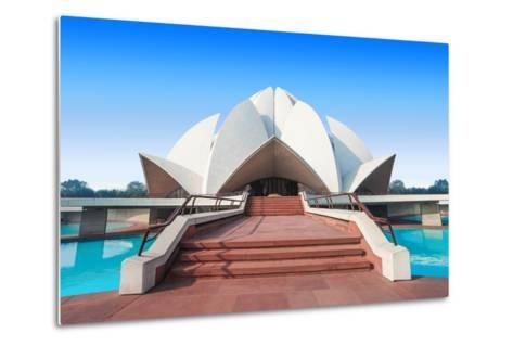The Lotus Temple, Located in New Delhi, India, is a Bahai House of Worship-saiko3p-Metal Print