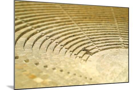 The Fragment of Ancient Theatre in Kourion, Cyprus (Tilt-Shift Miniature Effect)-katatonia82-Mounted Photographic Print