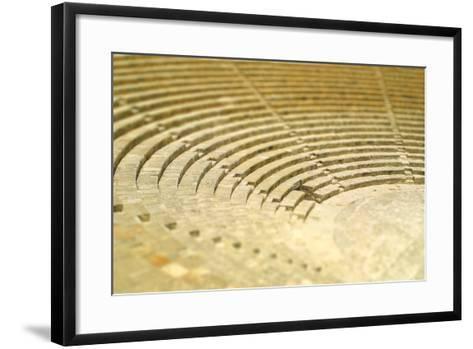 The Fragment of Ancient Theatre in Kourion, Cyprus (Tilt-Shift Miniature Effect)-katatonia82-Framed Art Print