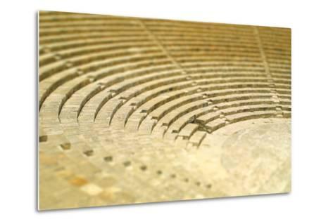 The Fragment of Ancient Theatre in Kourion, Cyprus (Tilt-Shift Miniature Effect)-katatonia82-Metal Print