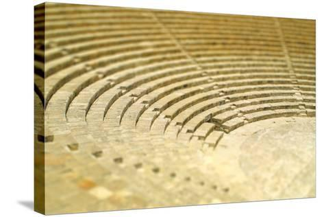 The Fragment of Ancient Theatre in Kourion, Cyprus (Tilt-Shift Miniature Effect)-katatonia82-Stretched Canvas Print