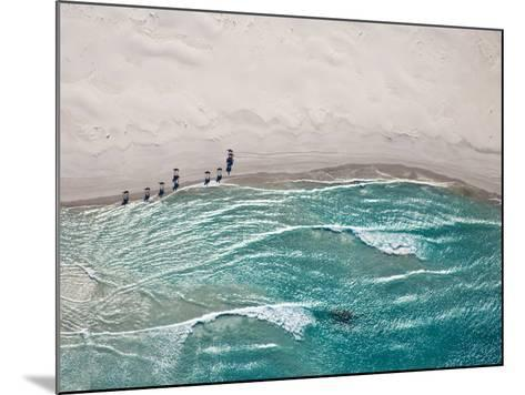 Aerial View of Horses Trotting on Noordhoek Beach in Early Morning. Riders are Often Spotted Exerci-Andrea Willmore-Mounted Photographic Print