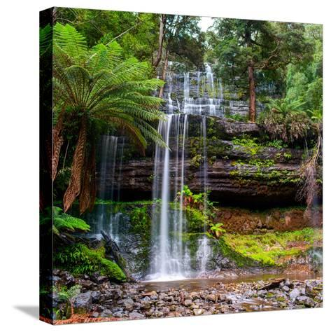 The Russell Falls, a Tiered Cascade Waterfall on the Russell Falls Creek, is Located in the Central-Yevgen Belich-Stretched Canvas Print