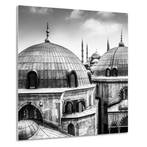 Blue Mosque or Sultan Ahmed Mosque Viewed Trough the Window of Hagia Sophia, Former Orthodox Patria-Matej Kastelic-Metal Print