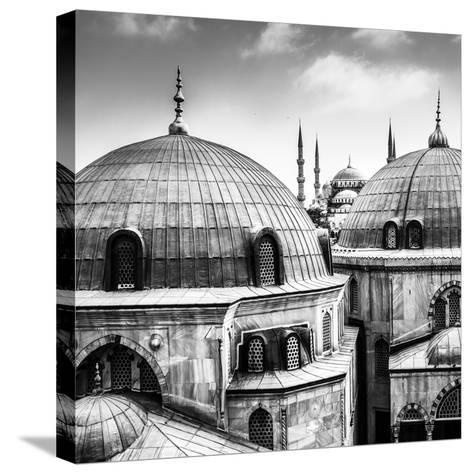 Blue Mosque or Sultan Ahmed Mosque Viewed Trough the Window of Hagia Sophia, Former Orthodox Patria-Matej Kastelic-Stretched Canvas Print