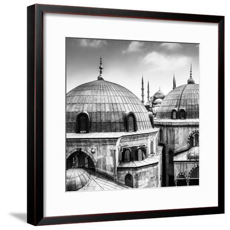 Blue Mosque or Sultan Ahmed Mosque Viewed Trough the Window of Hagia Sophia, Former Orthodox Patria-Matej Kastelic-Framed Art Print