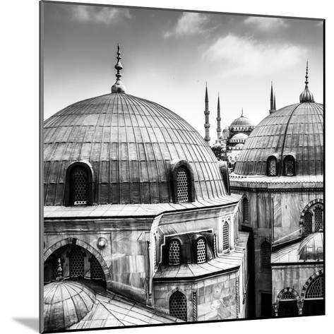 Blue Mosque or Sultan Ahmed Mosque Viewed Trough the Window of Hagia Sophia, Former Orthodox Patria-Matej Kastelic-Mounted Photographic Print