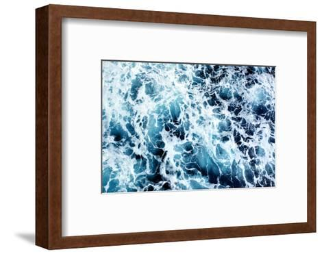 Ocean Water Abstract Background-Roman Sigaev-Framed Art Print