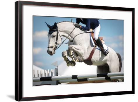 Horse Jumping-Catwalk Photos-Framed Art Print