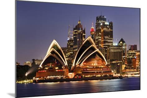 Australia Iconic Sydney City Landmarks CBD Harbour and Famous Buildings Greatly Illuminated at Suns-Taras Vyshnya-Mounted Photographic Print