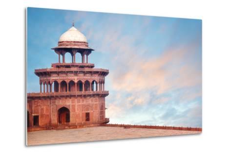Fort Tower, Detail of Taj Mahal Architectural Complex in Agra, India-Serg Zastavkin-Metal Print