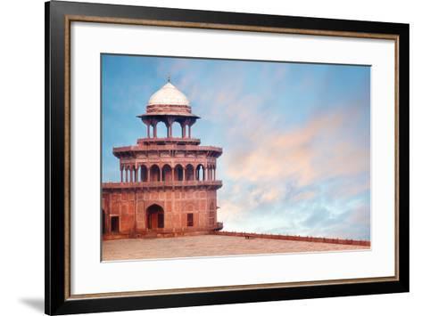 Fort Tower, Detail of Taj Mahal Architectural Complex in Agra, India-Serg Zastavkin-Framed Art Print