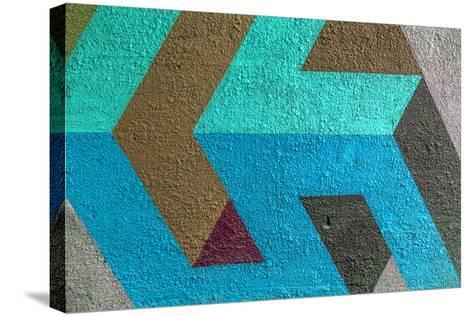 Beautiful Street Art Graffiti. Abstract Creative Drawing Fashion Colors on the Walls of the City. U- A_Lesik-Stretched Canvas Print