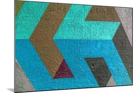 Beautiful Street Art Graffiti. Abstract Creative Drawing Fashion Colors on the Walls of the City. U- A_Lesik-Mounted Photographic Print