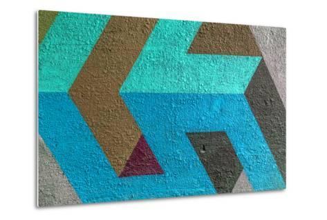 Beautiful Street Art Graffiti. Abstract Creative Drawing Fashion Colors on the Walls of the City. U- A_Lesik-Metal Print