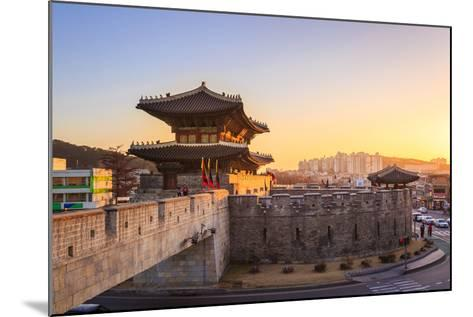 Hwaseong Fortress, Traditional Architecture of Korea in Suwon, South Korea- PKphotograph-Mounted Photographic Print