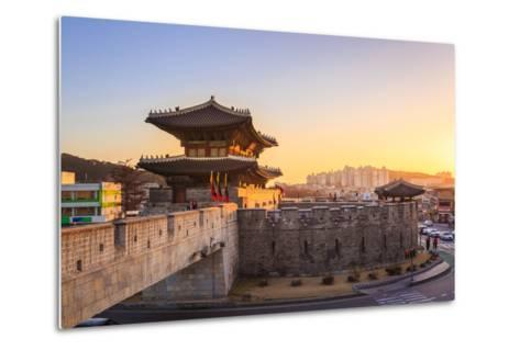 Hwaseong Fortress, Traditional Architecture of Korea in Suwon, South Korea- PKphotograph-Metal Print