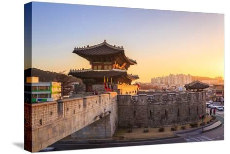 Hwaseong Fortress, Traditional Architecture of Korea in Suwon, South Korea- PKphotograph-Stretched Canvas Print