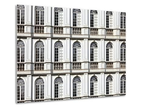 Architecture and Windows of Ancient Renaissance Style Classical Building-Protasov AN-Metal Print