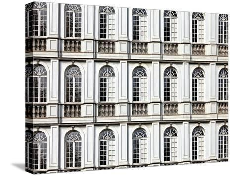 Architecture and Windows of Ancient Renaissance Style Classical Building-Protasov AN-Stretched Canvas Print