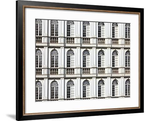 Architecture and Windows of Ancient Renaissance Style Classical Building-Protasov AN-Framed Art Print
