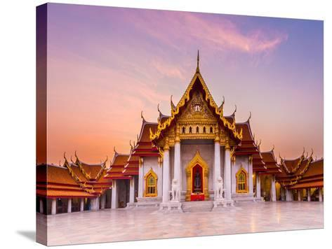 The Famous Marble Temple Benchamabophit from Bangkok, Thailand- Pumidol-Stretched Canvas Print