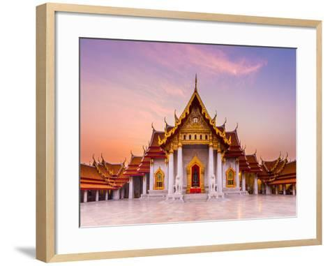 The Famous Marble Temple Benchamabophit from Bangkok, Thailand- Pumidol-Framed Art Print