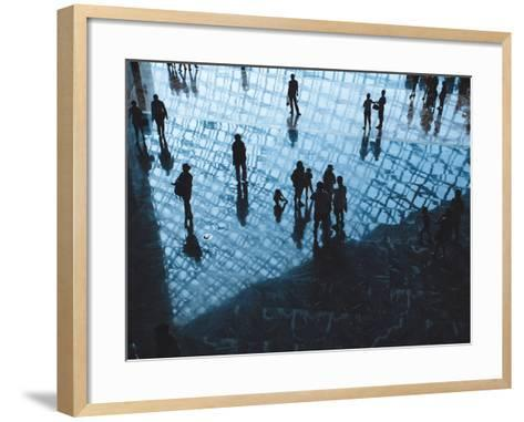 The Human Reflections in the Modern Architecture-long8614-Framed Art Print