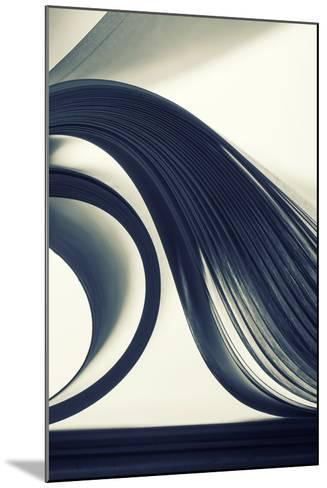 Macro View of Abstract Paper Curves-Nomad_Soul-Mounted Photographic Print