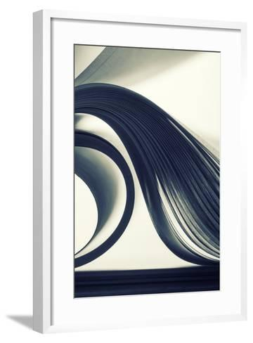 Macro View of Abstract Paper Curves-Nomad_Soul-Framed Art Print